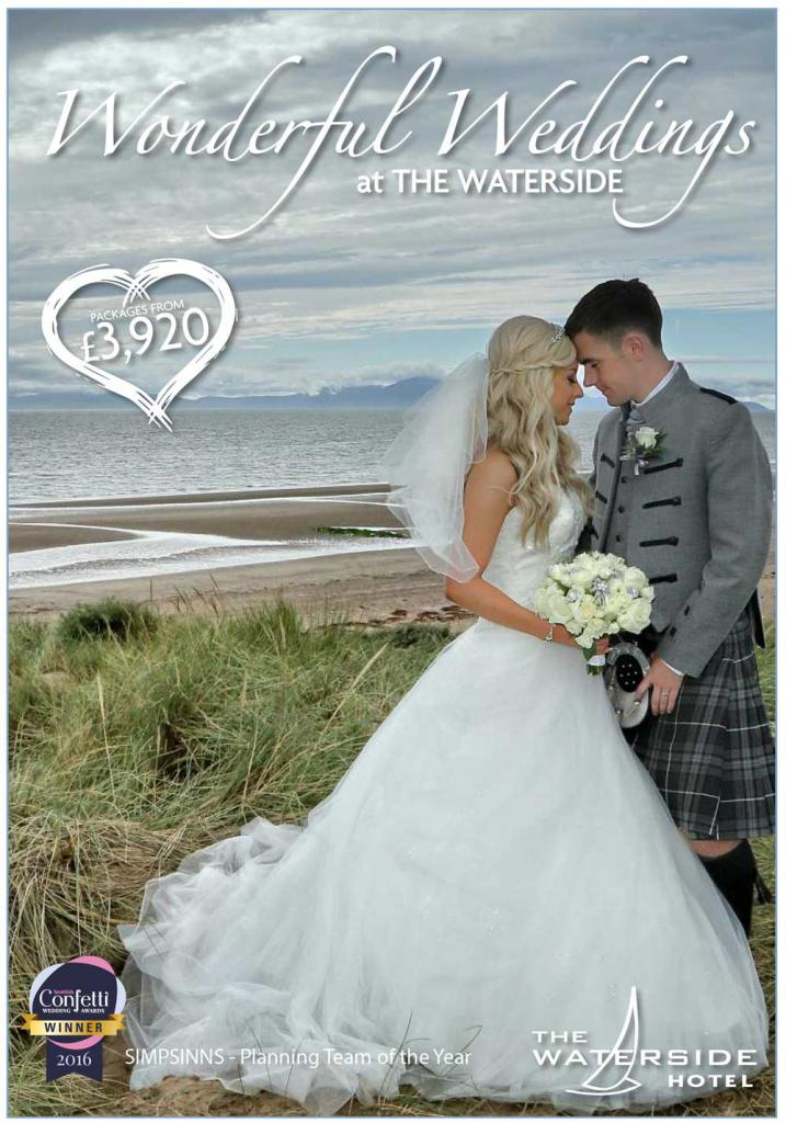 The Waterside Hotel Wedding Package from £3,920. Ayrshire Wedding Venue